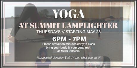 Yoga at Summit Lamplighter!  tickets