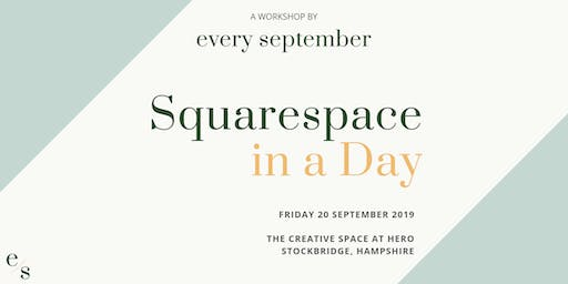 Squarespace in a Day Workshop