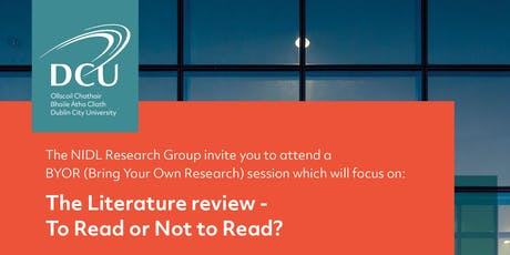 NIDL Research Group | BYOR | The Literature review - To Read or Not to Read?  tickets