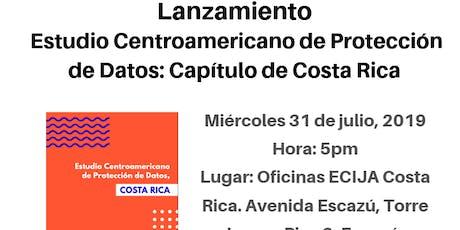 Lanzamiento del Estudio de Protección de datos: Capítulo de Costa Rica entradas