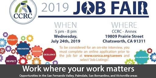 CCRC 2019 Job Fair