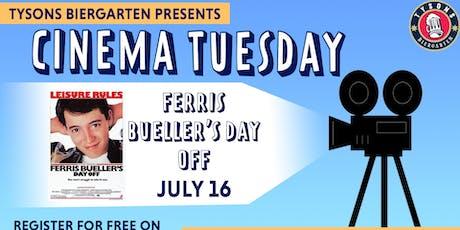 Cinema Tuesdays at Tysons Biergarten - Ferris Buellers Day Off  tickets