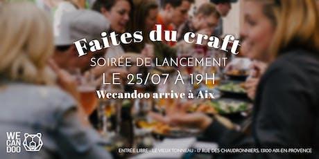 Wecandoo débarque  à Aix : soirée de lancement le 25 Juillet ! billets