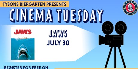 Cinema Tuesdays at Tysons Biergarten - Jaws  tickets