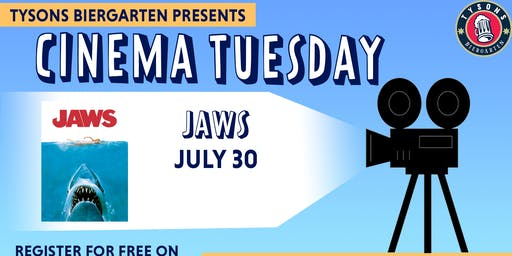 Cinema Tuesdays at Tysons Biergarten - Jaws