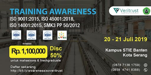 TRAINING AWARENESS ISO QHSE (Paid Event)
