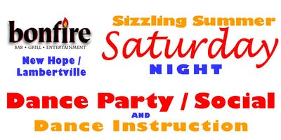 Summer Dance and Social with Hustle Dance Lesson ~ Singles & Couples Welcome  190720   LMOD