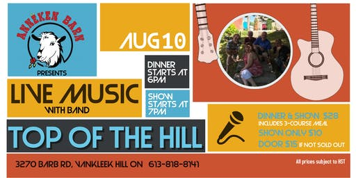 Live Music with TOP OF THE HILL Band