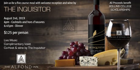 The Inquisitor Wine Dinner at The Alfond Inn  tickets