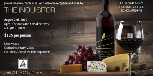 The Inquisitor Wine Dinner at The Alfond Inn