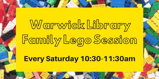 Warwick Library Family Lego Session 2019