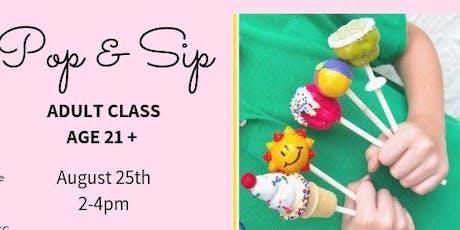 Pop & Sip: Cake Pop Class tickets