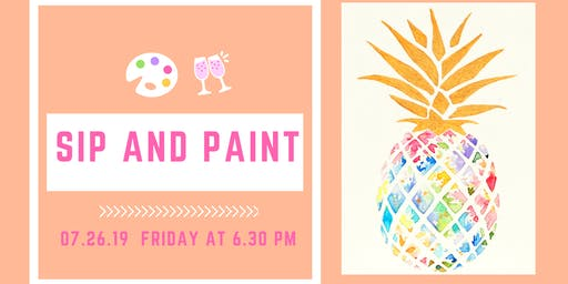 Sip and Paint - Happy Pineapple