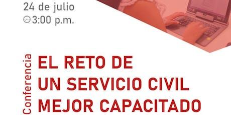 """Conferencia """"El reto de un servicio civil mejor capacitado"""" en la Feria del Libro de Lima  entradas"""