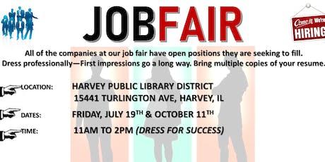 Harvey Public Library District Job Fair tickets