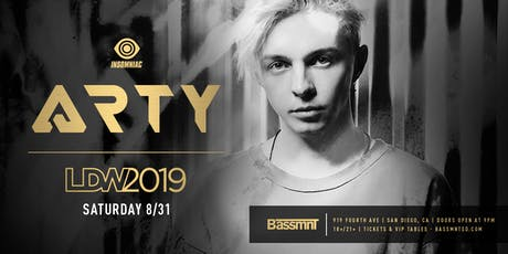 ARTY at Bassmnt Saturday 8/31 tickets