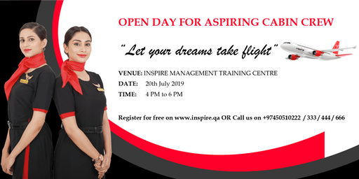 Open Day - Seminar For Aspiring Cabin Crew