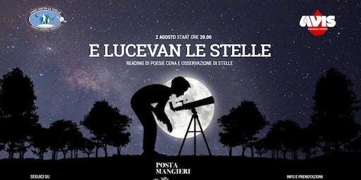 E lucevan le stelle - Cena, reading e osservazioni astronomiche