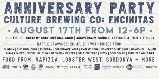 CULTURE BREWING CO ENCINITAS | 2-YEAR ANNIVERSARY!