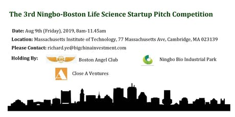 The 3rd Ningbo-Boston Life Science Startup Networking & Pitch Competition tickets