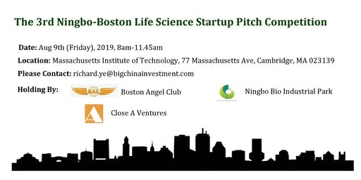 The 3rd Ningbo-Boston Life Science Startup Networking & Pitch Competition