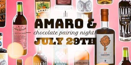 Amaro & Chocolate Pairing Night! tickets