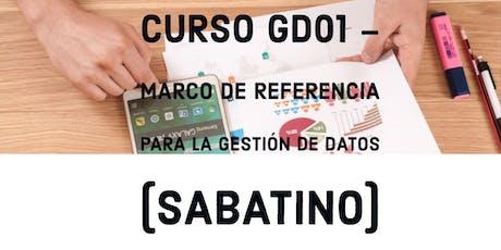 Curso sabatino GD01 - Marco de referencia para la gestión de datos entradas