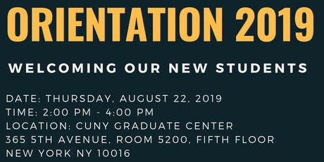 2019 Political Science New Student Orientation tickets