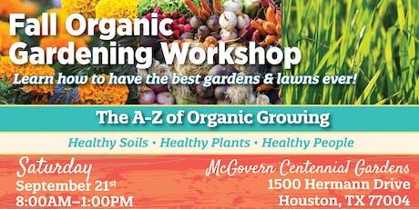 Fall Organic Gardening Workshop tickets