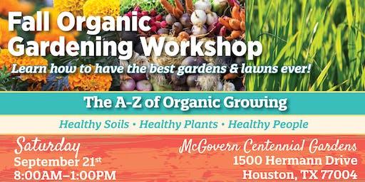 Fall Organic Gardening Workshop