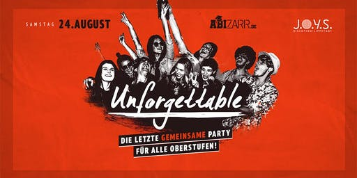Unforgettable 16+ // 24 Aug 2019 Lippstadt