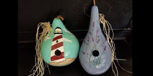 Bird House Gourd Painting 7/27