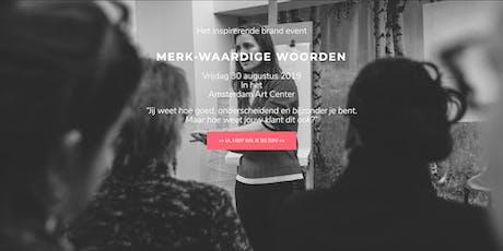 VIP MERK-Waardige Woorden 30 augustus 2019 tickets