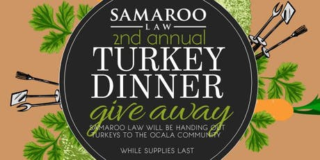 Samaroo Law Turkey Drive & Giveaway tickets