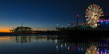 Night photography Santa Monica Pier tickets