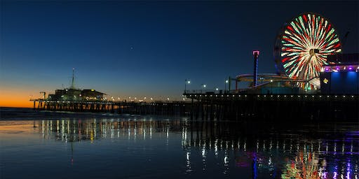 Night photography Santa Monica Pier