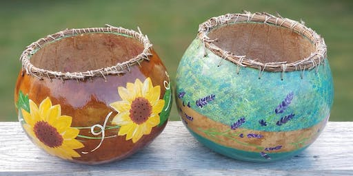Gourd bowl painting 8/17