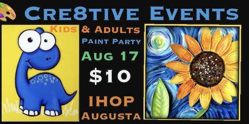 $10 Kiddo & Adult Paint Party @ IHOP AUGUSTA