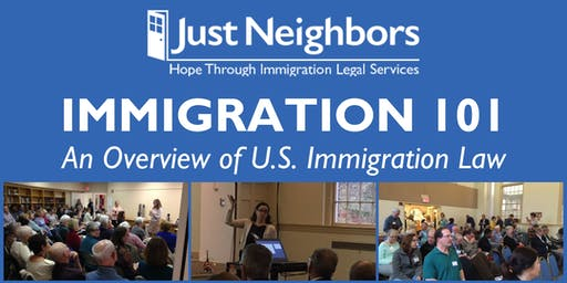 Immigration 101 presented by Just Neighbors (Sterling)