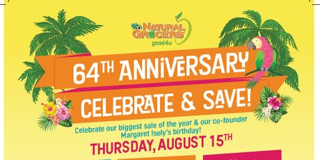 Natural Grocers Anniversary Celebration tickets