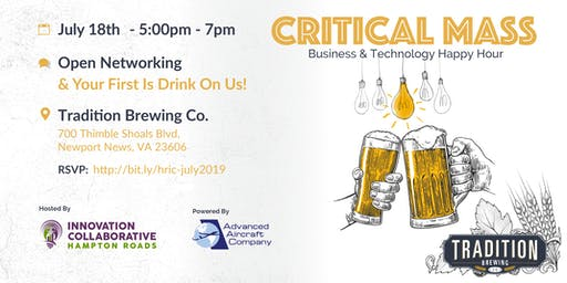 Critical Mass Business & Technology Happy Hour - July 18th, 2019