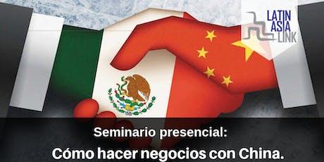Seminario: Cómo importar de China profesionalmente y con seguridad. tickets