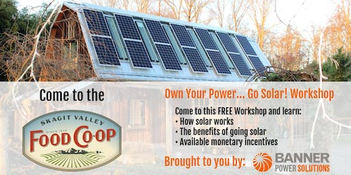 Own Your Power... Go Solar! Workshop
