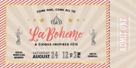 Swanson Vineyards La Boheme Celebration tickets