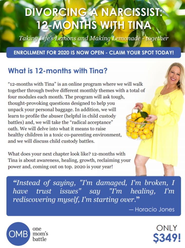 Divorcing a Narcissist: 12 Months with Tina
