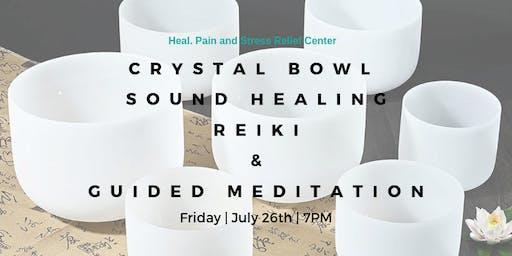 Crystal Bowl Meditation & Reiki Healing