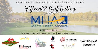 Fifteen22 Golf Outing supporting Mental Health America