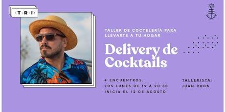 """Talleres Club TRI: """"Delivery de cocktails"""" por Juan Roda (4 encuentros) entradas"""