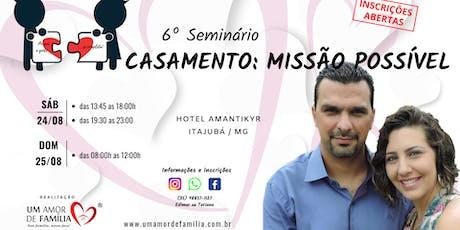 Seminário CASAMENTO UMA MISSÃO POSSÍVEL ingressos