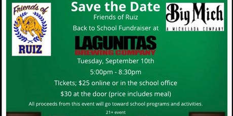 Friends of Ruiz and BIG MICH: Back to School Fundraiser tickets